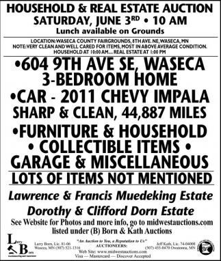 Household & Real Estate Auction