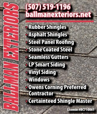 Shingles Roofing Gutters Siding Windows Ballman