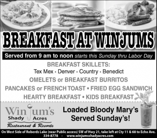 Breakfast at Winjums