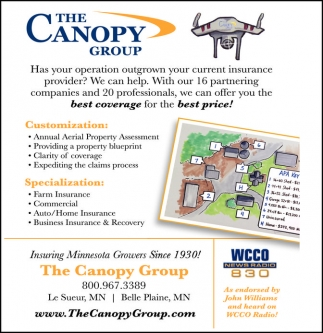 Insuring Minnesota Growers Since 1930 The Canopy Group Le Sueur MN