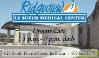 Urgent Care 1pm - 9pm daily