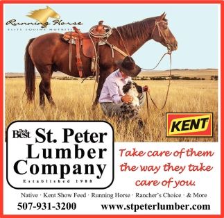 Take care of them the way they take care of you, St. Peter Lumber Company, Saint Peter, MN