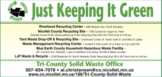 Just Keeping It Green, Tri-County Solid Waste , Saint Peter, MN