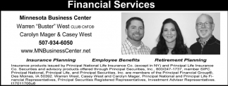 Financial Services, Minnesota Business Center, Saint Peter, MN