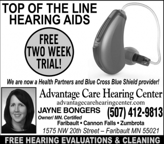 Free 2 week trail, Advantage Care Hearing Center, Faribault, MN