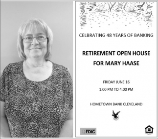 Retirement Open House for Mary Haase