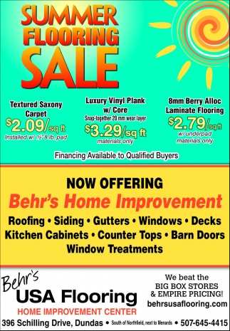 Ads For Behr's Usa Flooring in Southern Minn