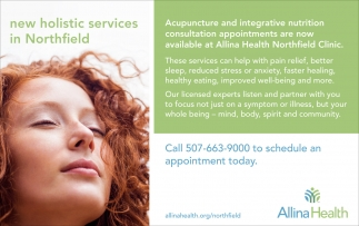 New Holistic Services in Northfield, Allina Health, Faribault, MN
