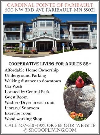 Cooperative Living for Adults 55+, Cardinal Pointe Of Faribault, Faribault, MN