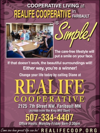Ads For Realife Cooperative in Southern Minn