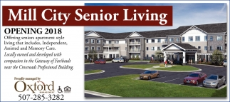 Mill City Senior Living Opening 2018, Oxford Property Management, Rochester, MN