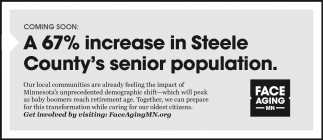 A 67% increase in Steele County's senior population