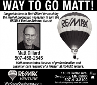 Congratulations to Matt Gillard