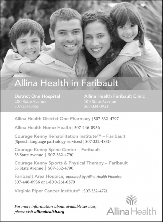 Allina Health in Faribault