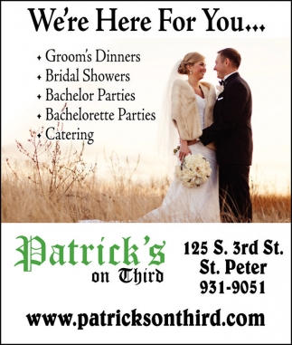 Groom's Dinners, Bridal Showers, Bachelor Parties, Bachelorette Parties, Catering