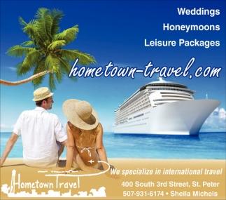 Weddings Honeymoons Leisure Packages Hometown Travel Saint Peter MN
