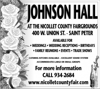 Johnson Hall, Nicollet County Fair, Saint Peter, MN