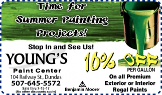 10% off per gallon on all Premium Interior Regal Paint