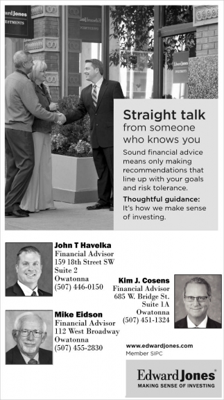 Straight Talk from someone who knows you, Edward Jones - Owatonna