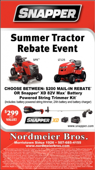 Summer Tractor Rebate Event