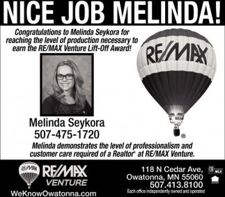 Nice Job Melinda!