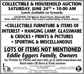 Collectible & Household Auction
