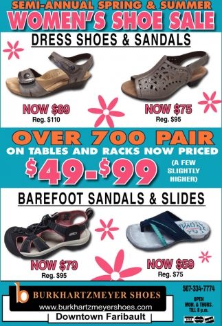 Semi Annual Spring & Summer Women's Shoe Sale