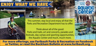 Ads For Faribault Family Aquatic Center in Southern Minn