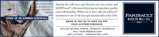 Bring in this ad to save 10% off, Faribault Woolen Mill Co, Faribault, MN
