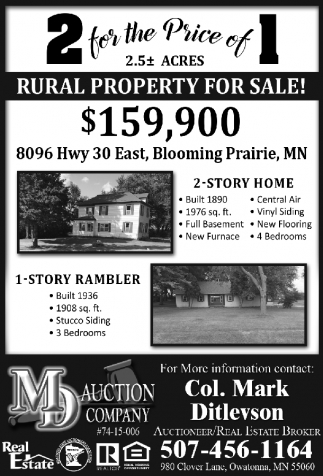 RURAL PROPERTY FOR SALE!
