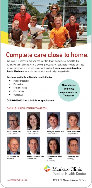 Complete care close to home
