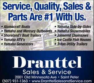 Service, Quality, Sales & Parts Are #1 With Us