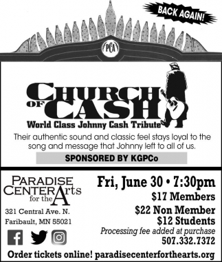 Church of Cash, Paradise Center for the Arts, Faribault, MN
