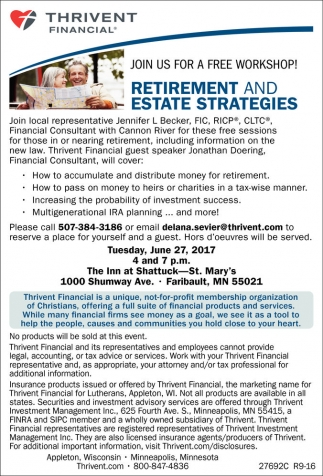 Retirement and estate strategies thrivent financial faribault mn solutioingenieria Gallery