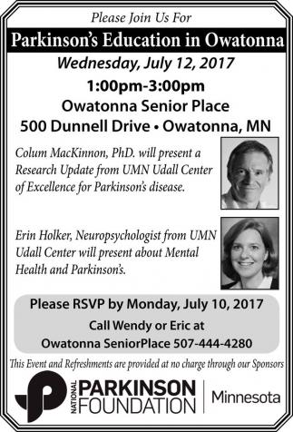 Parkinson's Education in Owatonna
