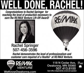 Well Done, Rachel!