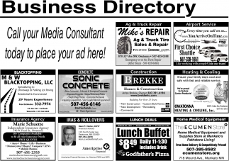 Ads For Business Directory - Owatonna in Southern Minn