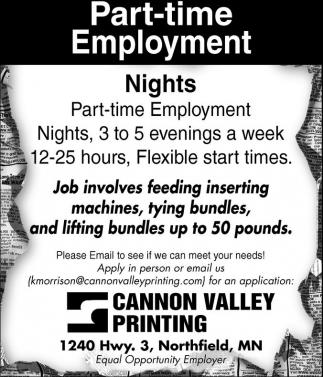 Part-Time Employment