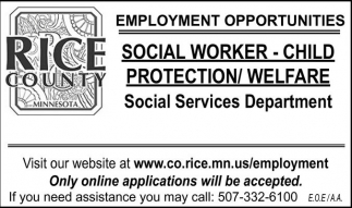 Social Worker - Child Protection / Welfare