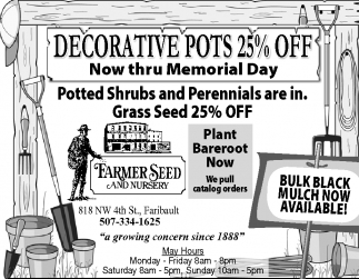 DECRATIVE POTS 25% OFF