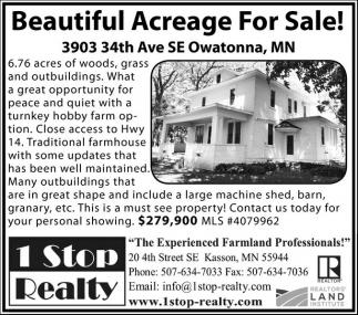 Beautiful Acreage For Sale!