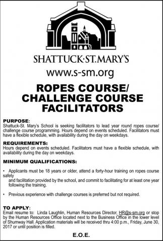 Ropes Course / Challenge Course Facilitators