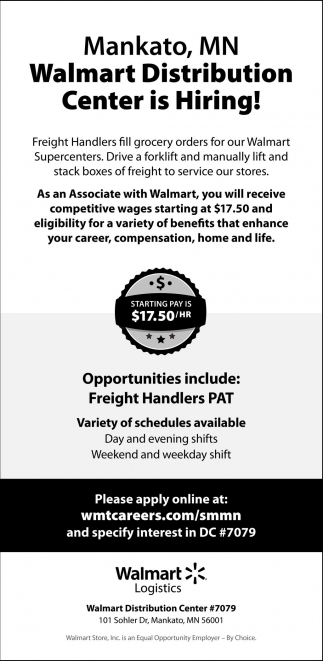 job openings walmart logistics mankato