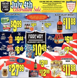 July 4th Celebration Sale