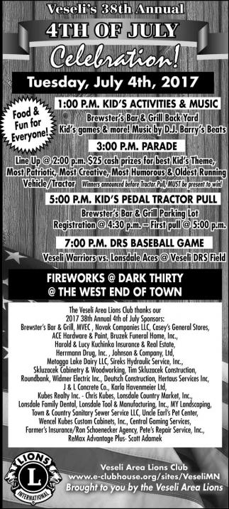 Veseli's 38th Annual 4th of July Celebration!