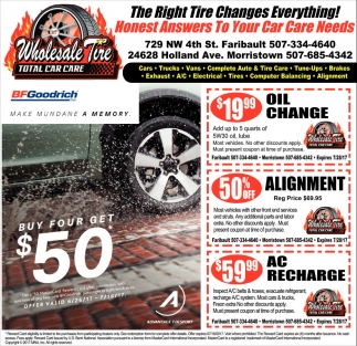 Ads For Wholesale Tire in Southern Minn