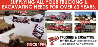 Ads For Timm's Trucking and Excavating in Southern Minn