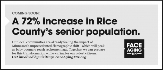 A 72% increase in Rice County's senior population