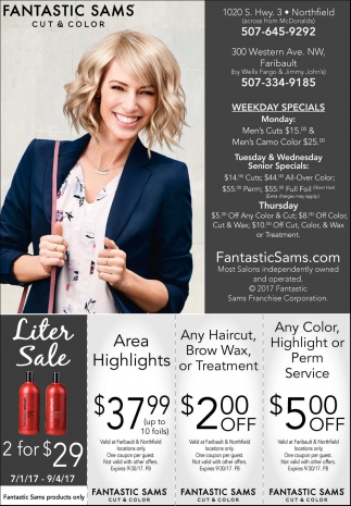 Ads For Fantastic Sams Cut and Color in Southern Minn