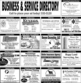 Call to place your ad today!